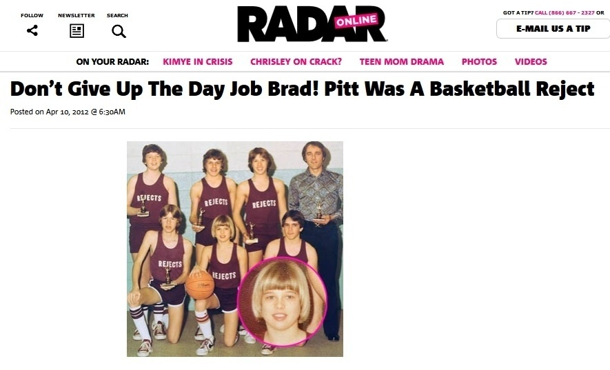 Brad Pitt e seu time de rejeitados no basquete
