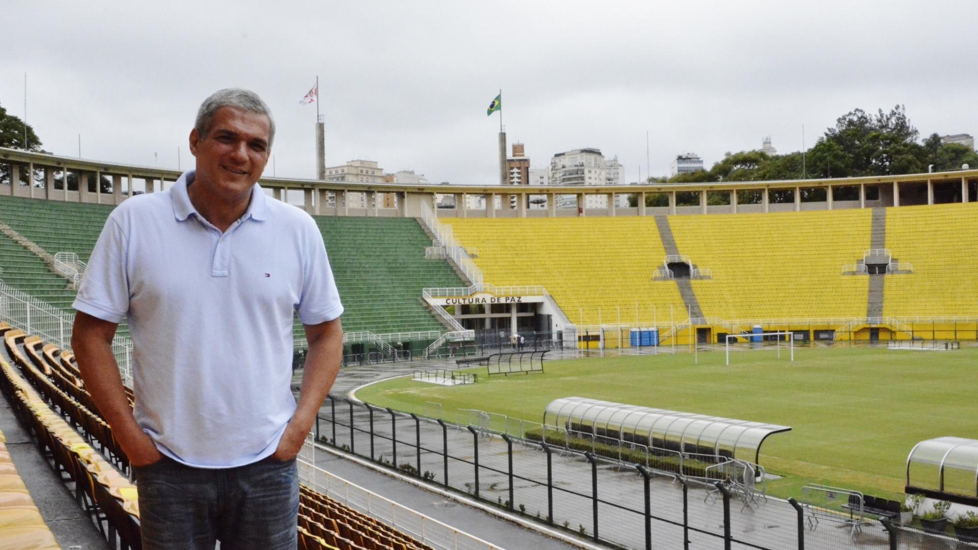 23.12.2014 - O secretário de Esportes, Celso Jatene, afirma que o Pacaembu não está em liquidação