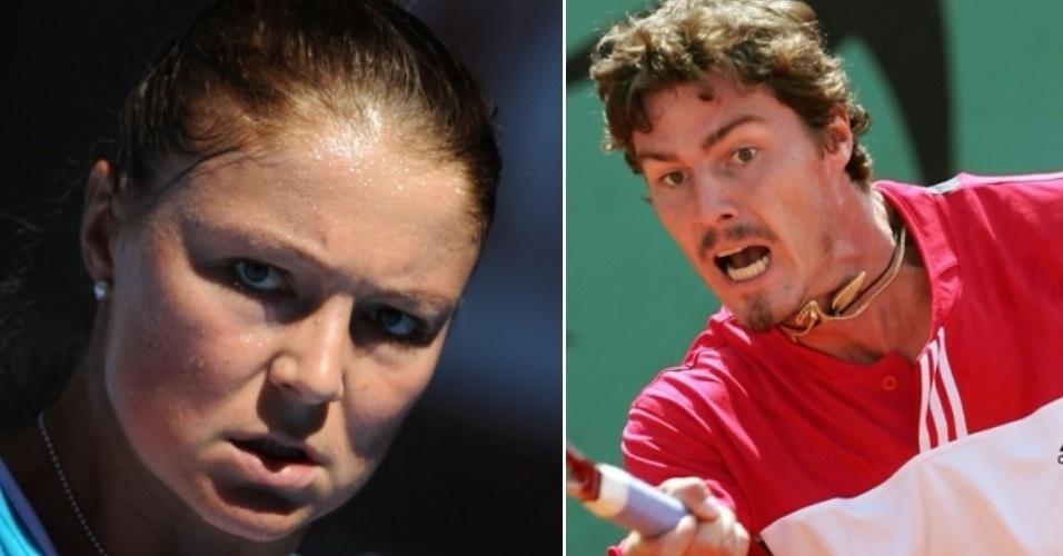 Dois ex-número do tênis, os russos Marat Safin e Dinara Safina