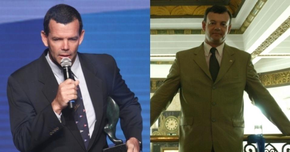 Uma dupla de ícones da vela brasileiro, Toben Grael (e) e Lars Grael