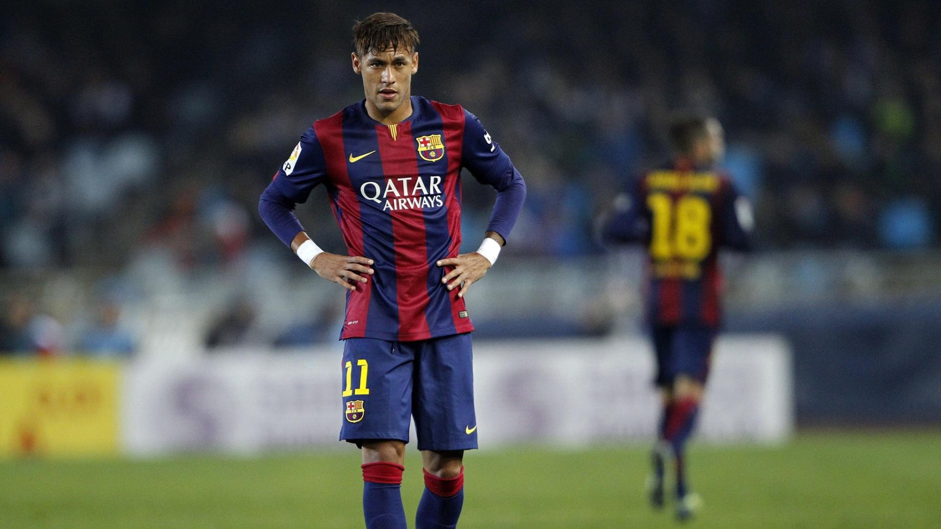 Neymar após a derrota do Barcelona para o Real Sociedad