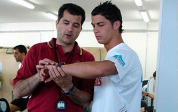 Preparador físico Darlan Schneider com Cristiano Ronaldo na seleção de Portugal