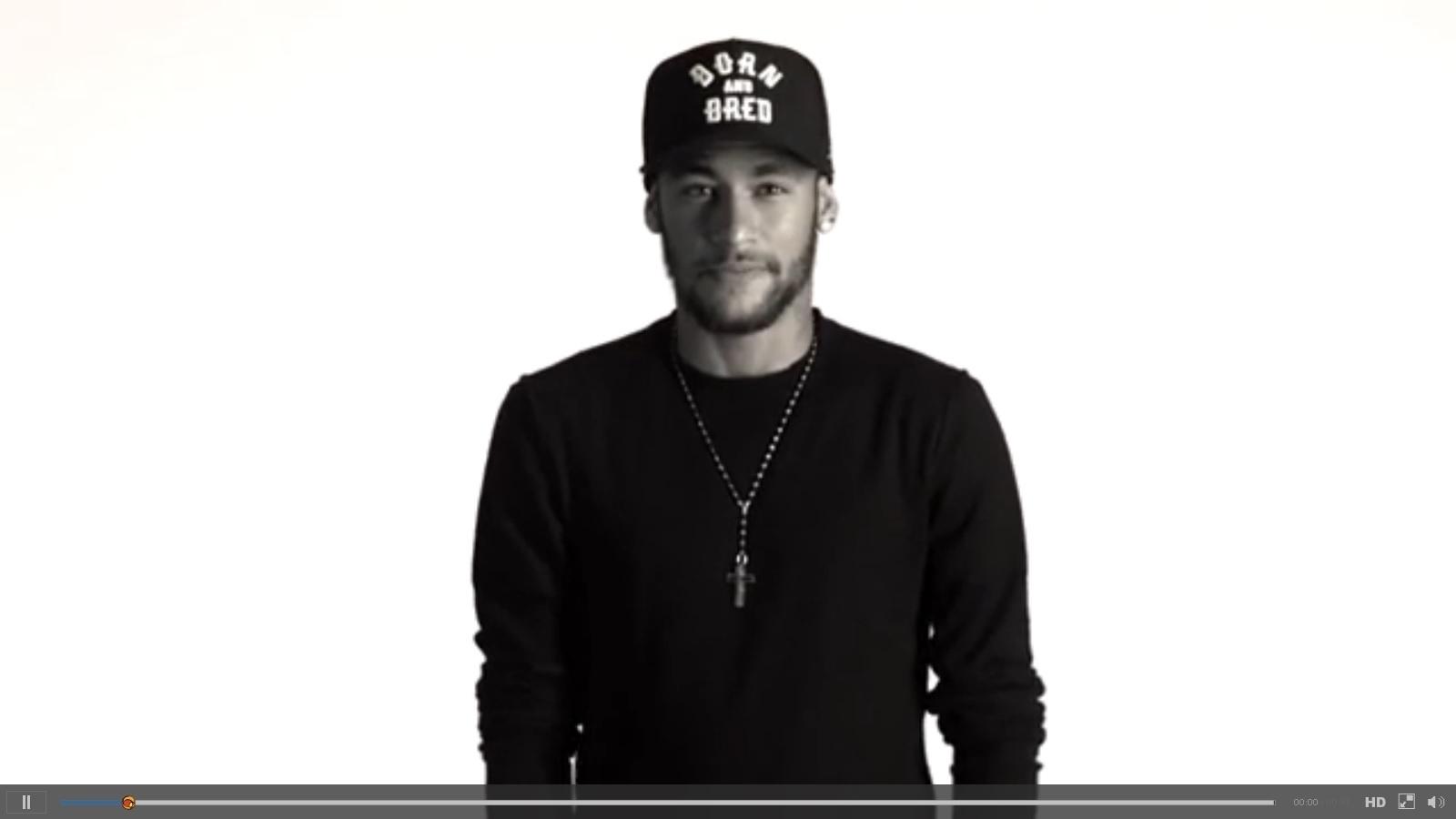Neymar participa de campanha da Unicef