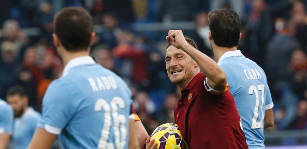Totti chegou ao clube italiano em 1989, quando tinha apenas 12 anos