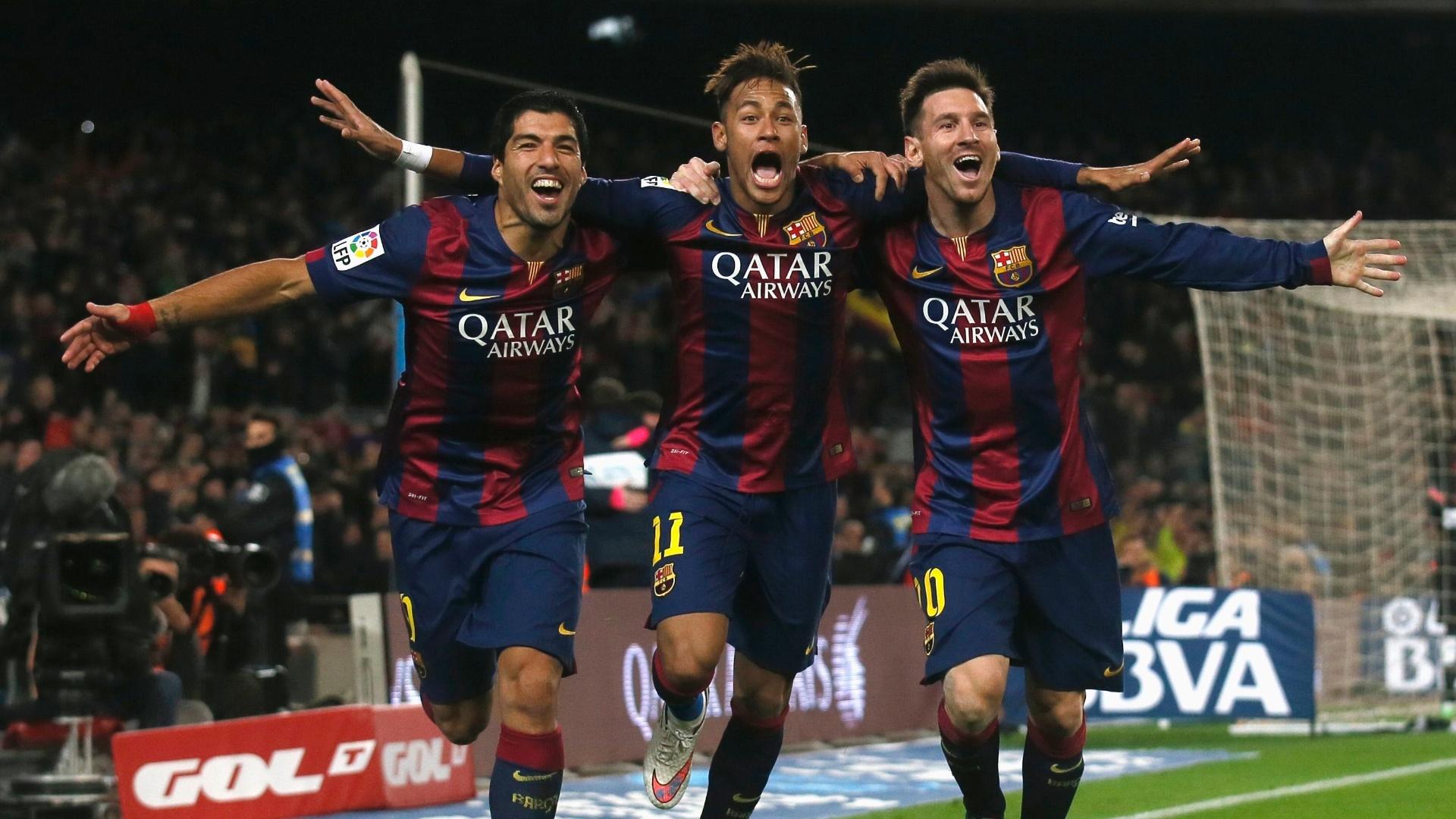 Trio de ataque deixa sua marca mais uma vez e Barcelona vence Atlético de Madri por 3 a 1