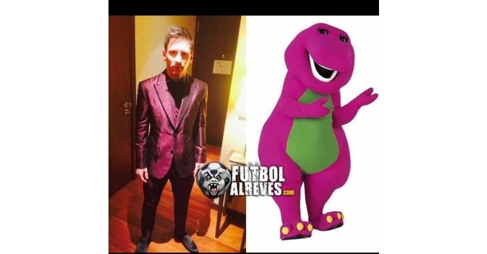 Até o Dinossauro Barney foi comparado a Messi