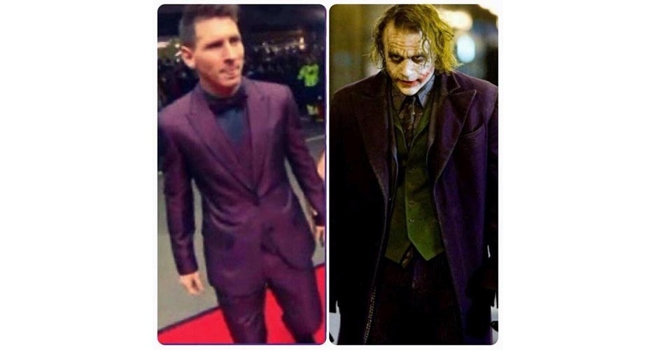 Messi foi comparado a dois Coringas diferentes, vilões dos filmes do Batman