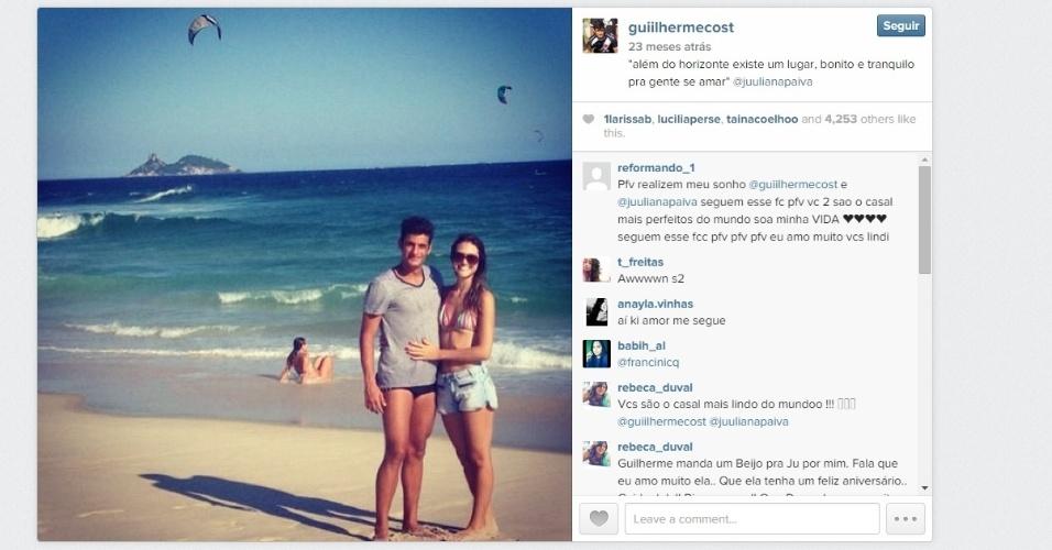Guilherme Costa e Juliana Paiva tinham até mesmo torcida de fãs nas redes sociais