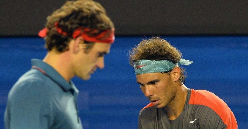 Na semifinal do Aberto da Austrália de 2014, Federer foi eliminado por Rafael Nadal. O espanhol venceu por 3 sets a 0
