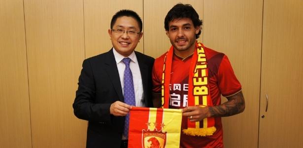 Ricardo Goulart é o novo reforço do Guangzhou Evergrande, da China - Divulgação/Guangzhou Evergrande