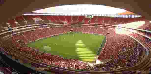 A CBF não autorizou o Flamengo a fixar base no estádio Mané Garrincha, em Brasília - Gilvan de Souza/ Flamengo