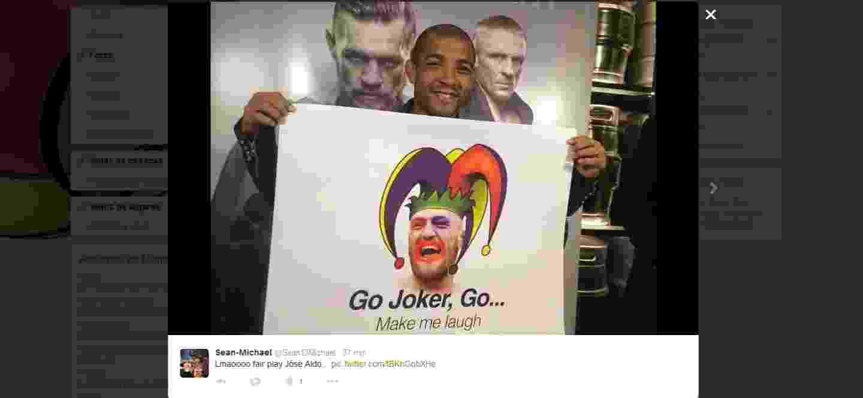 José Aldo provoca Conor McGregor, seu provável próximo rival - Reprodução/Twitter