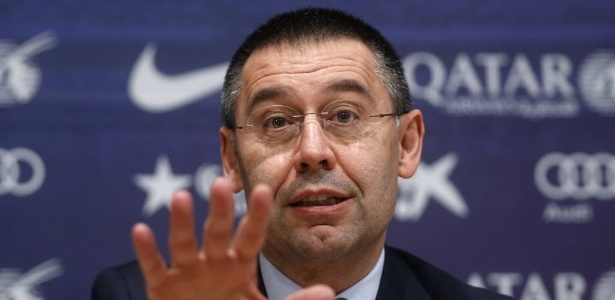 Presidente do Barça, Josep María Bartomeu, precisará repassar o valor milionário para o governo
