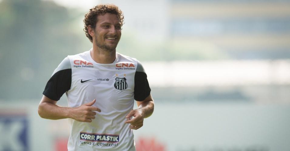 Meia Elano assinou uma espécie de contrato de teste com o Santos