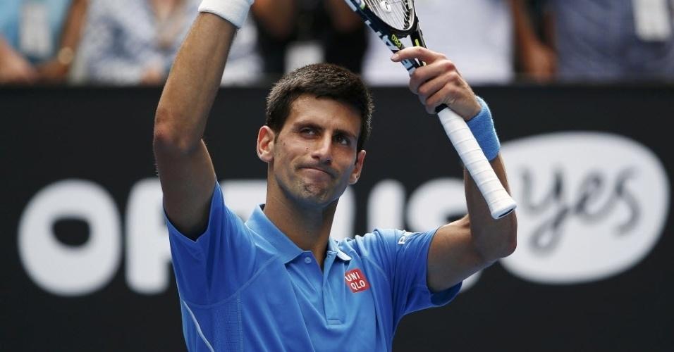 Novak Djokovic não teve dificuldade para passar por Aljaz Bedene por 3 sets a 0