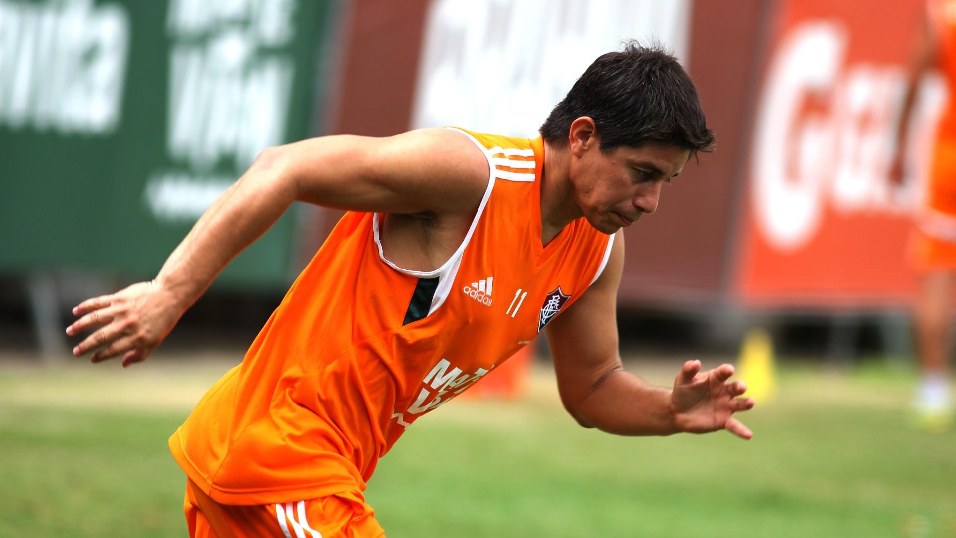 21 jan. 2015 - Argentino Conca participa da pré-temporada do Fluminense, realizada nas Laranjeiras
