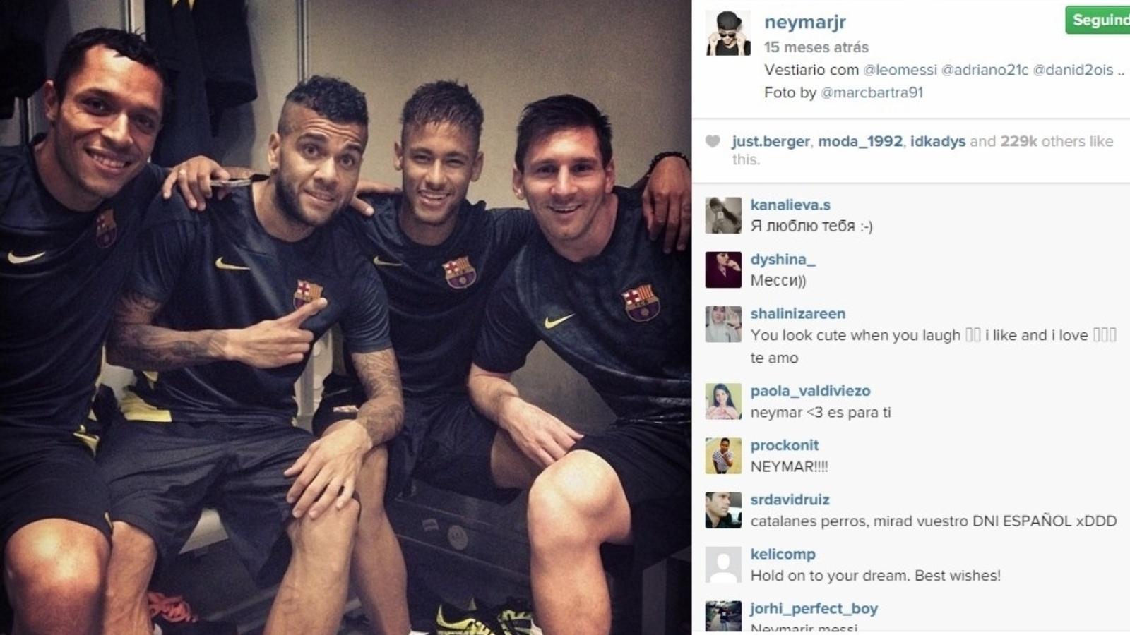 Parceiros de Neymar acreditam que ele ganhou respeito de Messi por conta do bom futebol apresentando