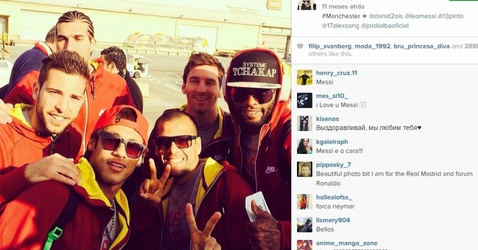 Neymar e Messi se relacionam bem fora de campo e já até trocam mensagens no celular