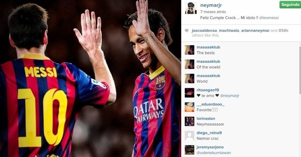 Neymar e Messi mantinham pouco contato na temporada passada