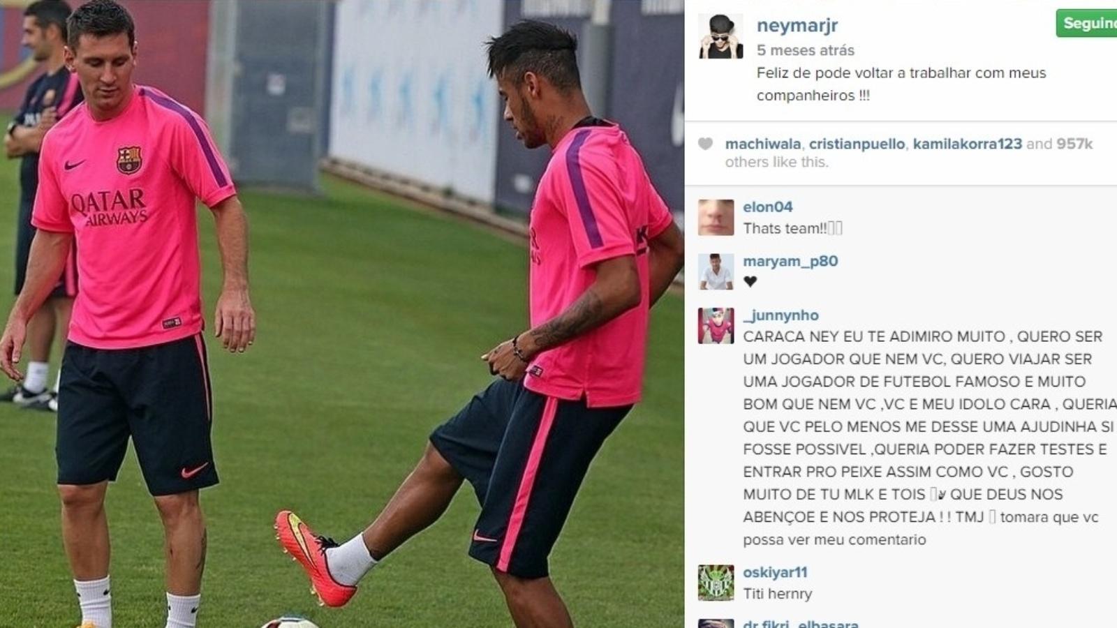 Neymar já afastou até Messi de briga com o treinador Luis Enrique de acordo com a mídia catalã