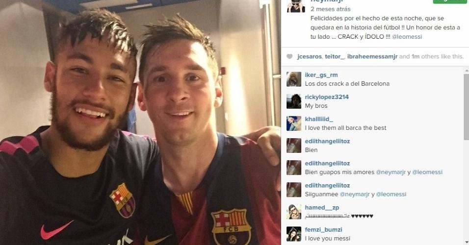 Neymar é visto pela mídia catalã como o maior amigo de Messi nos vestiários do Barça