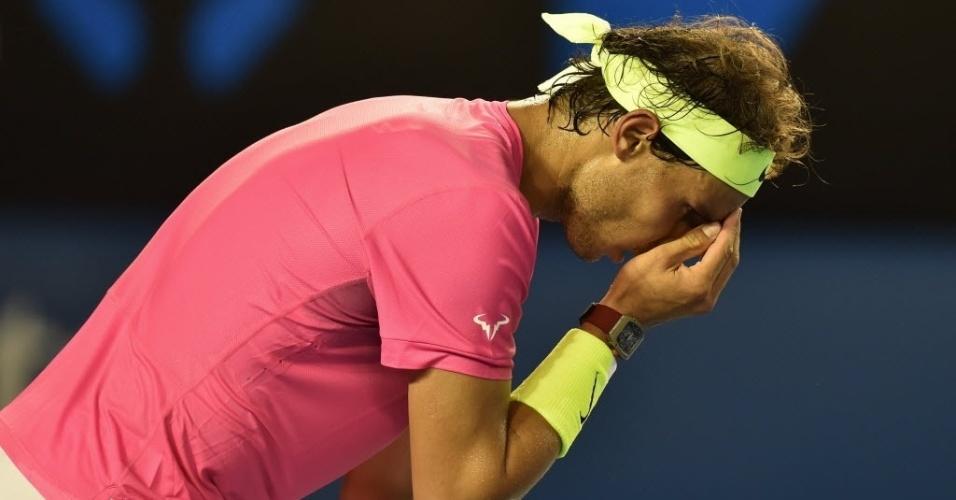 Rafael Nadal passou mal durante a partida contra Tim Smyczek pela segunda rodada
