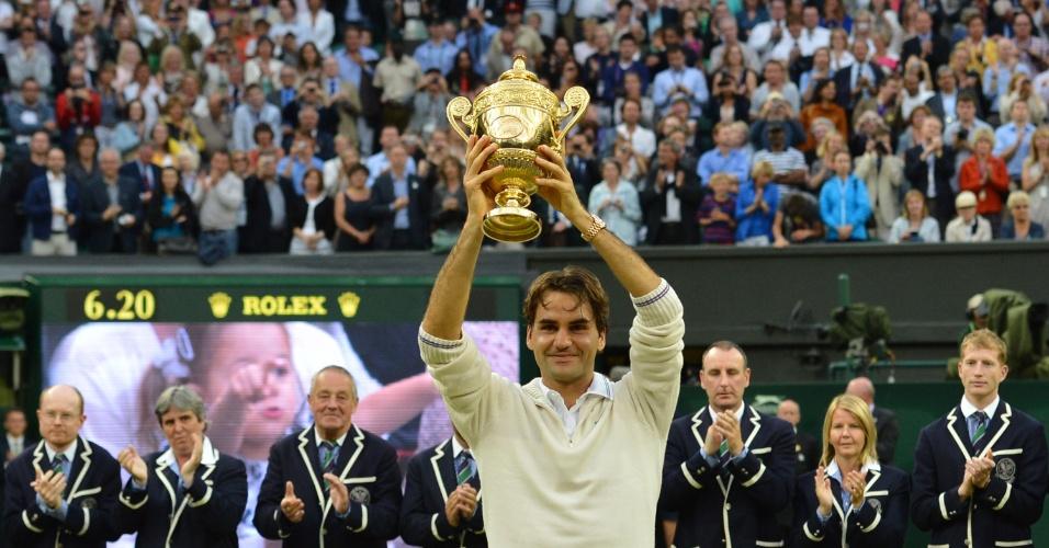 Federer em seu último título de Grand Slam