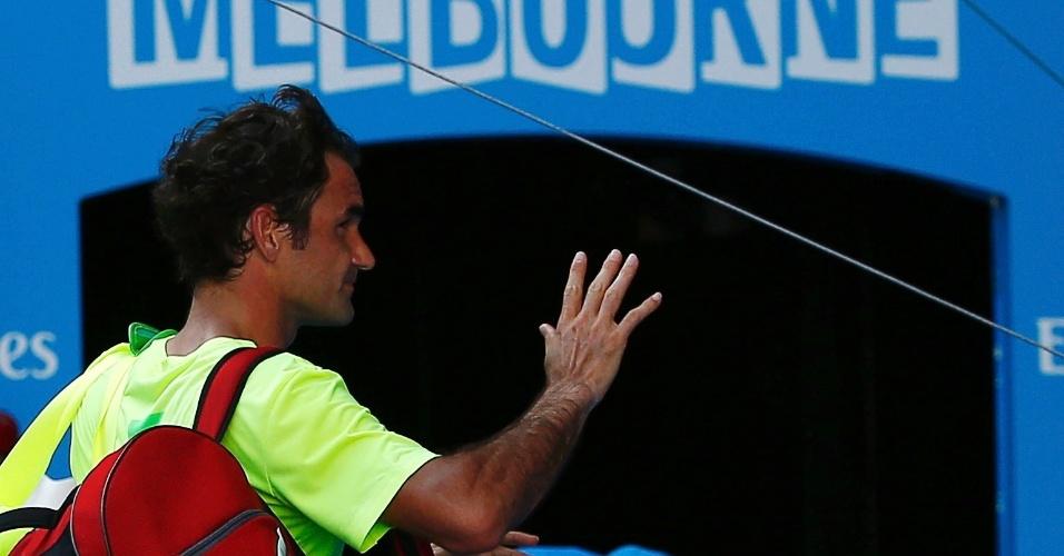 Federer foi eliminado na terceira fase do Aberto da Austrália de 2015 pelo italiano Andreas Seppi por 3 sets a 1