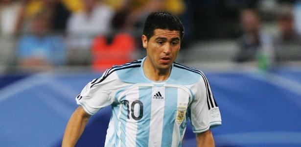 Riquelme pela seleção argentina em 2006