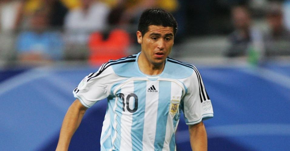 Riquelme em ação pela seleção argentina em 2006