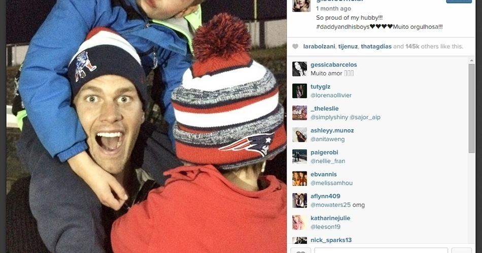 Os filhos de Brady e Gisele também são fanáticos por futebol americano