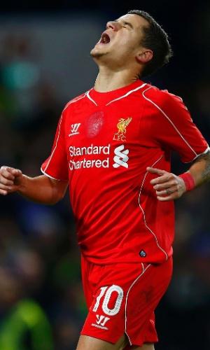 Philippe Coutinho lamenta oportunidade desperdiçada pelo Liverpool na Copa da Liga Inglesa
