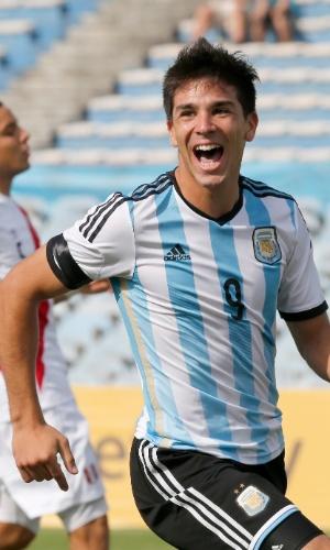 Giovanni Simeone comemora gol marcado no Sul-Americano Sub-20 em 2015