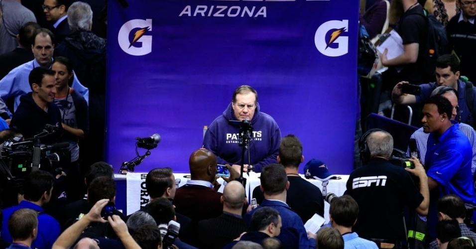 O treinador pode não ser um poço de simpatia, mas a imprensa se interessa bastante pelo que ele tem a dizer