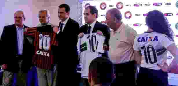 Atlético-PR e Coritiba  ignoram  rivalidade e fecham com mesmo patrocinador 55c54a95908c6