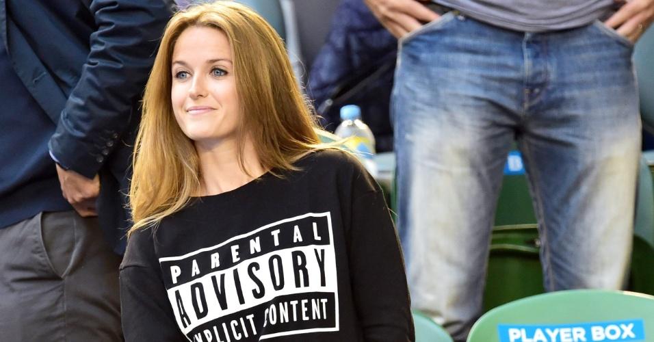 Kim Sears, mulher de Andy Murray, usou uma camisa com os dizeres