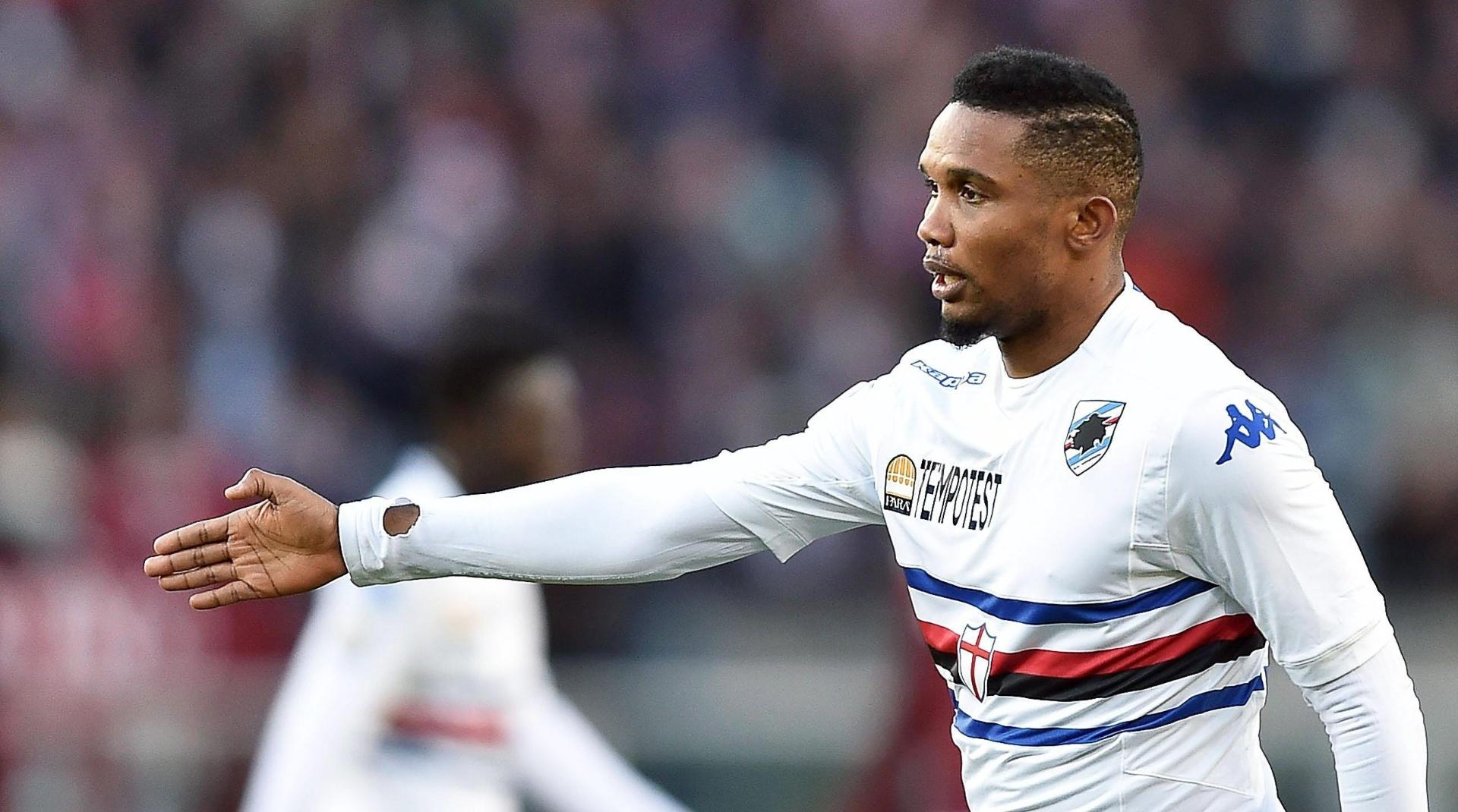 Samuel Eto'o estreia pela Sampdoria em partida do Campeonato Italiano