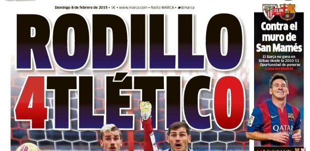 O jornal Marca neste domingo (08) após a goleada do Real Madrid