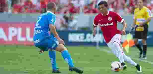 Luque, chamado de novo Caniggia, em primeiro jogo como titular no Inter, em 2015 - Alexandre Lops/Divulgação Inter