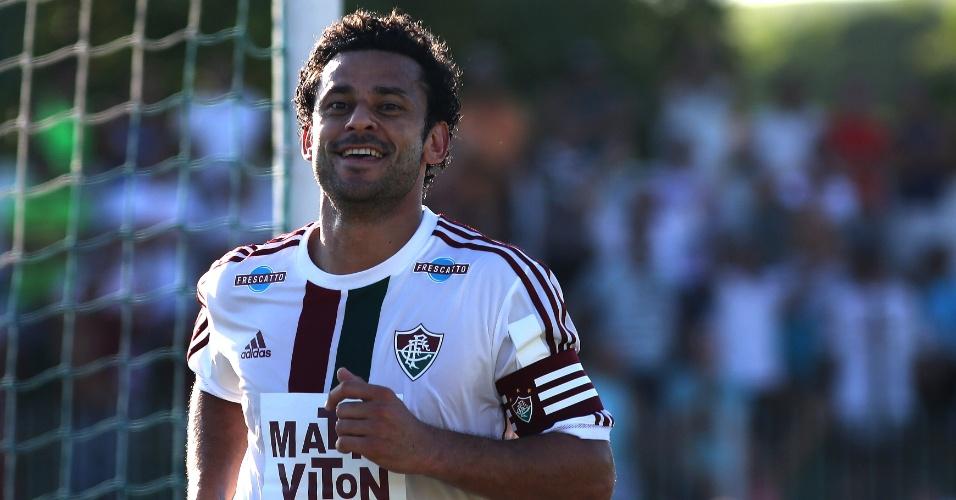 Fred comemora após marcar para o Fluminense