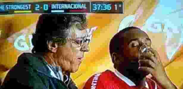 Anderson sofre na altitude - Reprodução/Fox Sports - Reprodução/Fox Sports