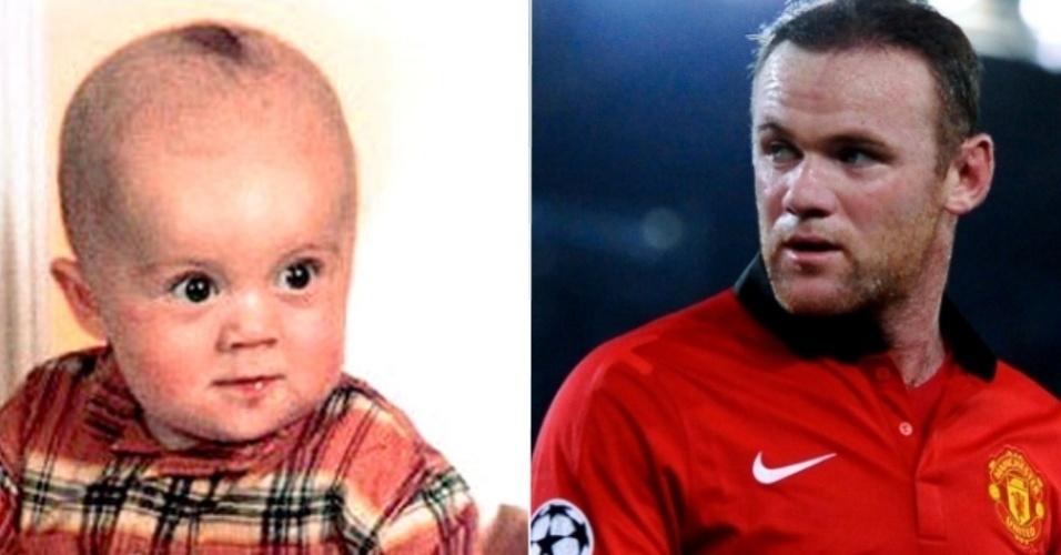 O atacante inglês do Manchester United Wayne Rooney
