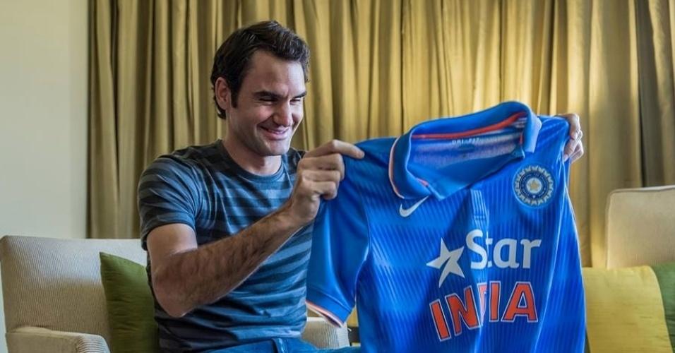 Camisa da seleção da Índia gerou mal-estar com Roger Federer