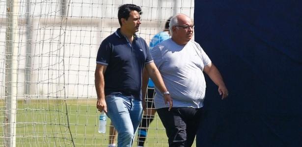 Diretor executivo de futebol do Grêmio e presidente miram contratação para o time