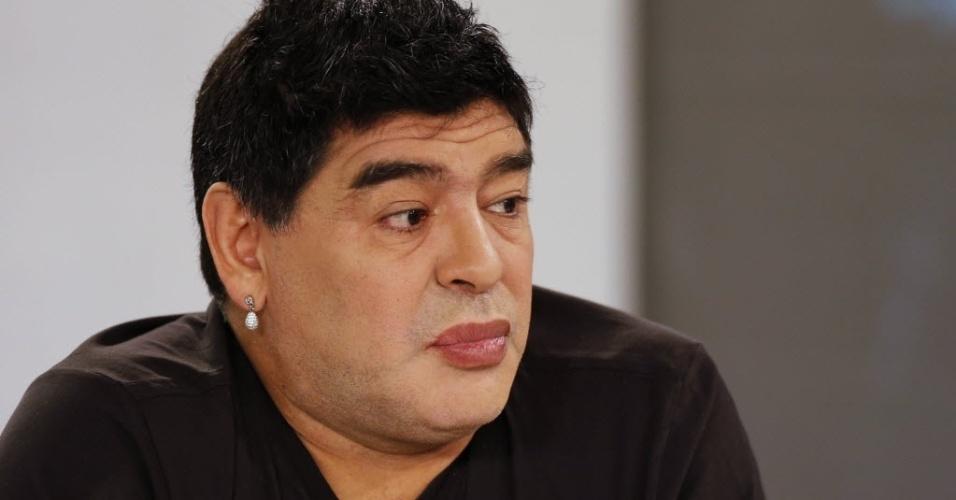 Maradona participa de programa de televisão na Venezuela