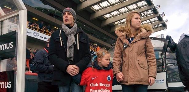 Acompanhado da filha, Laurenzo Schoonbaert viu seu time vencer pela última vez
