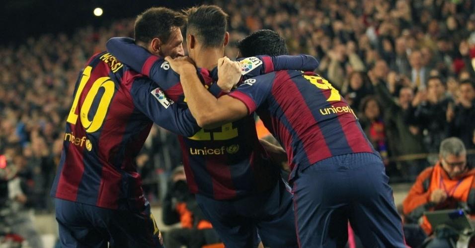 Antes da estreia do uruguaio, porém, a média de gols de Neymar no Barcelona era maior