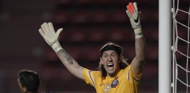 Cássio sofreu dois dos três gols do Corinthians em 2015 - AFP PHOTO / JUAN MABROMATA