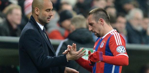 Ribéry teve problemas de relacionamento com Pep Guardiola - Christof Stache/AFP