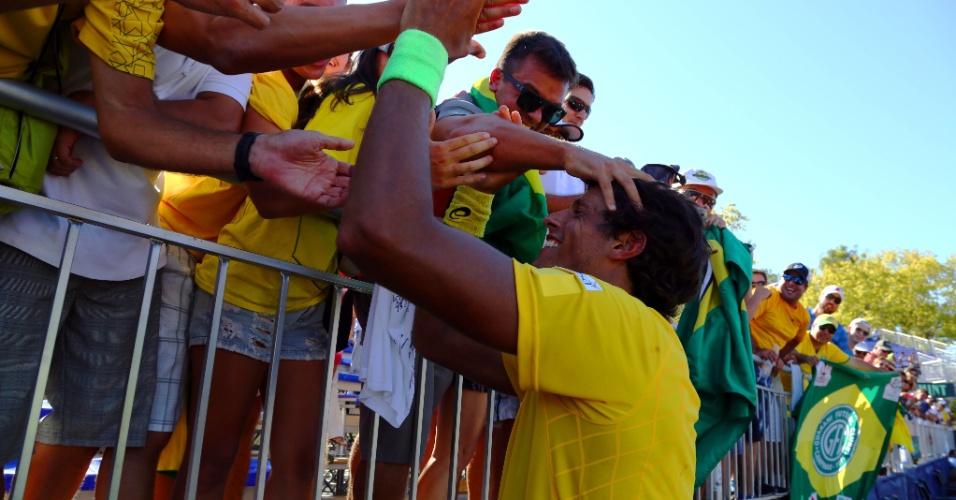 Número 1 do país também recebeu o carinho dos torcedores em Buenos Aires
